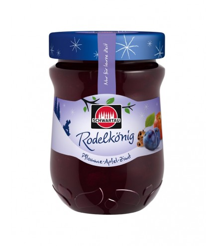 Schwartau Extra Winter Jam Rodelkönig Plum-Apple-Cinnamon, 340 g