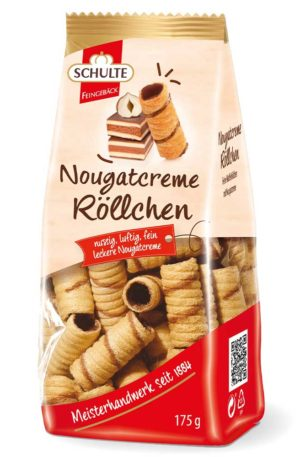 Schulte Nougat Cream Wafer Rolls 175g