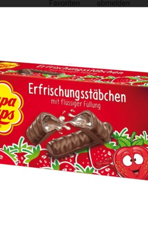 Strawberry Filled Chocolate Fingers (Erfrischungsstäbchen) 75g