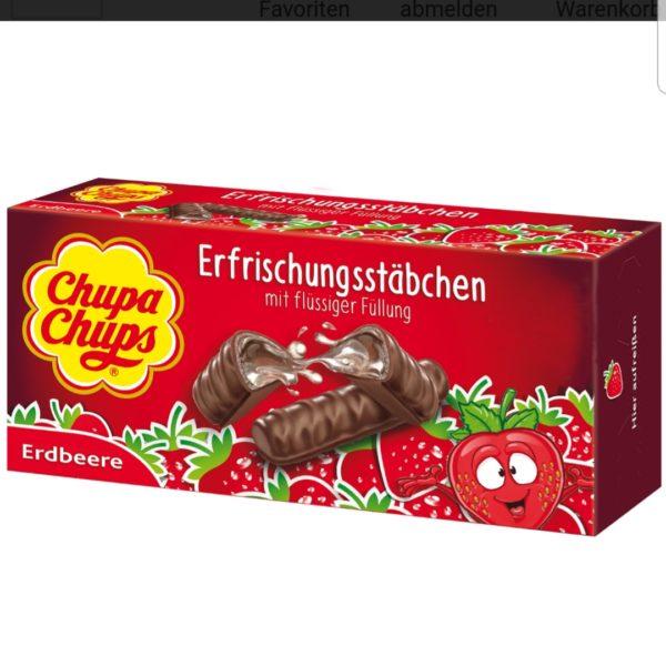 Strawberry Filled Chocolate Fingers (Erfrischungsstäbchen) 75g