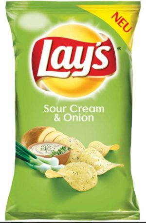 Lays Sour Cream and Onion Crisps 175g