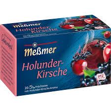 Meßmer Holunder-Kirsche Tee (Elderberry and Cherry Tea) 20 Bags