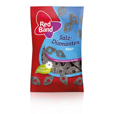 Red Band Salzdiamanten Minis (Salt Liquorice) 100g
