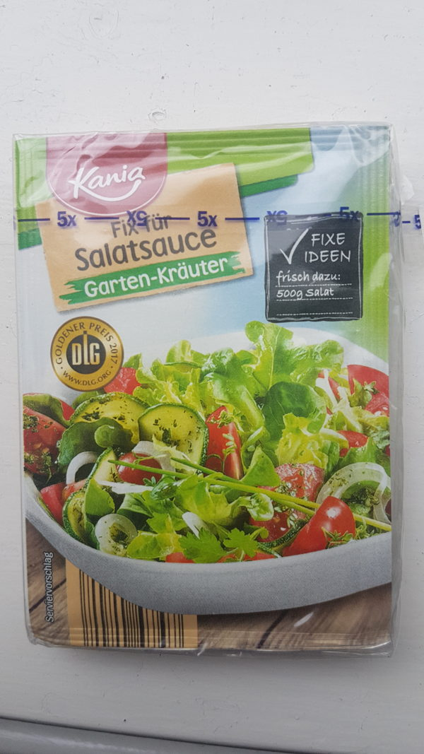 Kania Salad Sauce Fix, Kitchen Herbs 5 X 10g