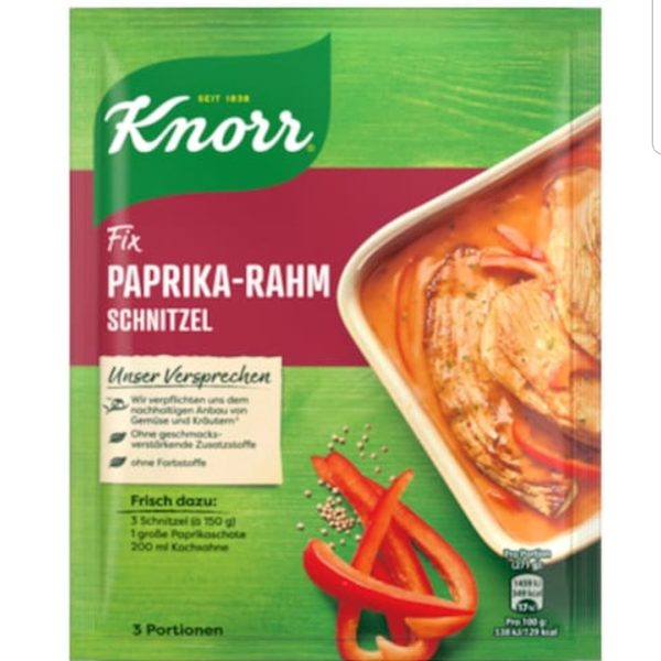 Knorr Paprika Cream Sauce for Schnitzel Fix 43g.