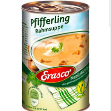 Erasco Pfifferling (Chanterelle mushroom) Cream Soup 390ml
