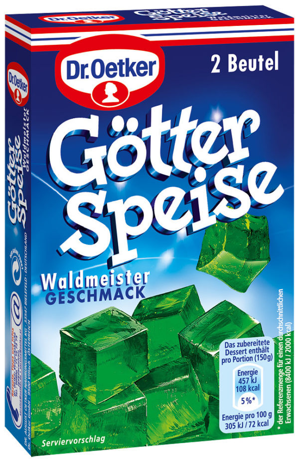 Götterspeise Waldmeister (Woodruff Jelly Mix) 2 sachets each make 500ml