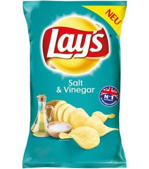 Lay's Salt and Vinegar Crisps 175g