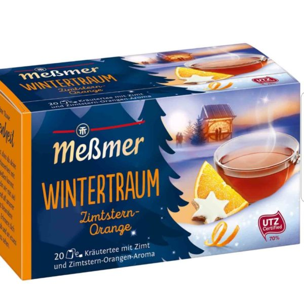 Meßmer Wintertraum Zimtstern-Orange (Cinnamon and Orange) Tea 20 Bags