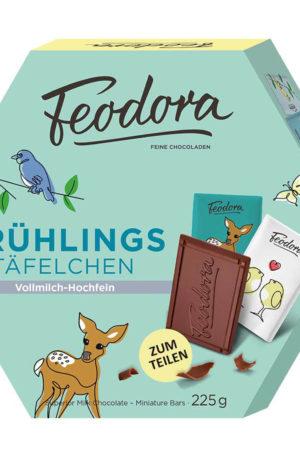 Feodora Frühlingstäfelchen Luxury Milk Chocolate 225g